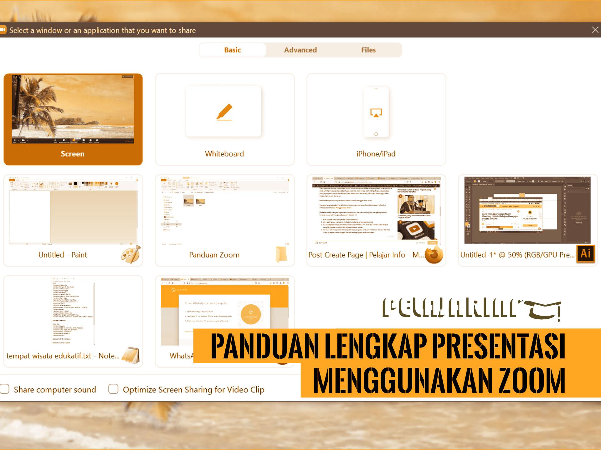 Panduan Lengkap Presentasi Menggunakan Zoom Pelajar Info