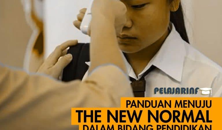 Panduan Menuju The New Normal Dalam Bidang Pendidikan yang diterbitkan Kemendikbud