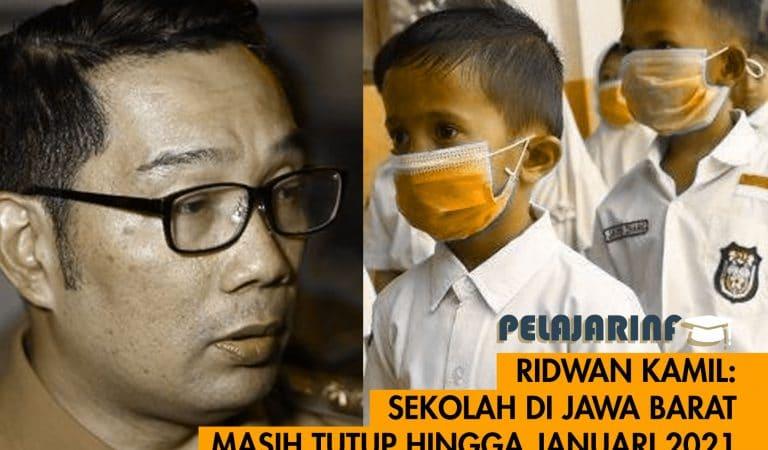Ridwan Kamil: Sekolah di Jawa Barat masih tutup hingga Januari 2021