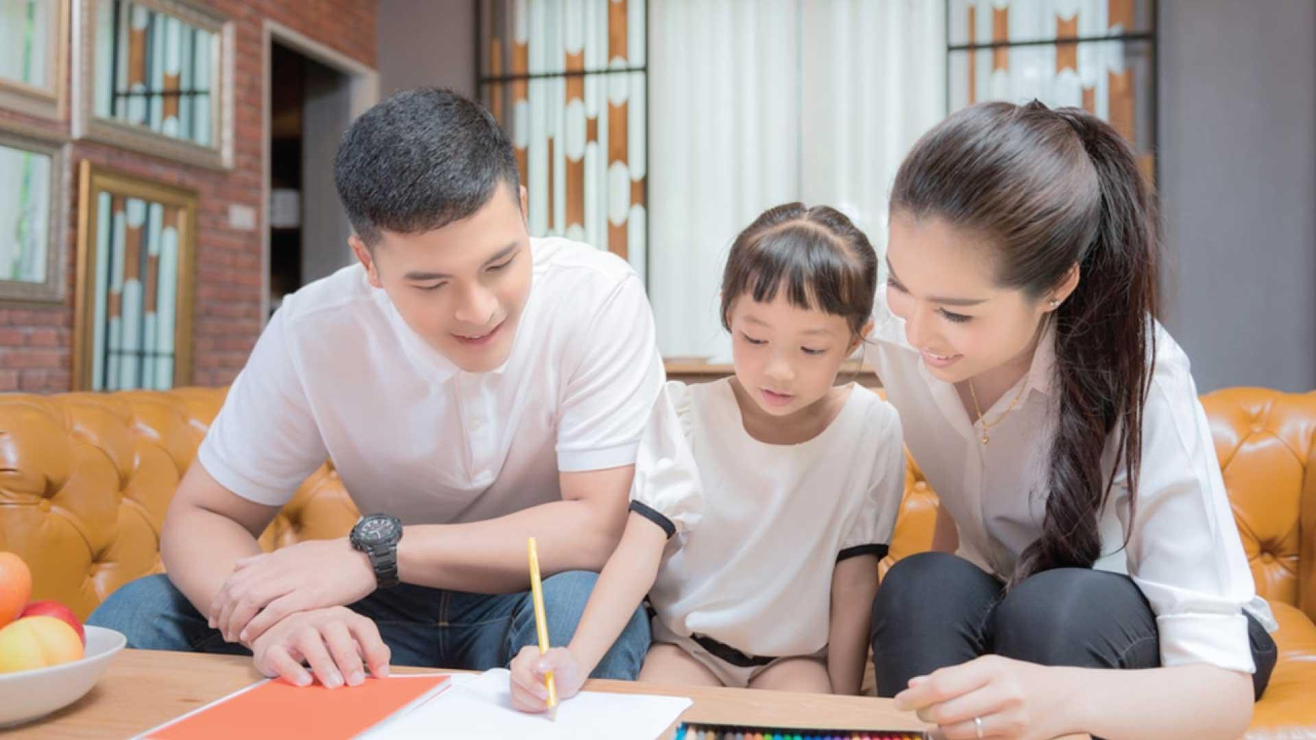 dampingi anak belajar