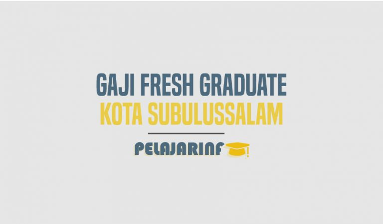 Gaji Fresh Graduate Kota Subulussalam 2021